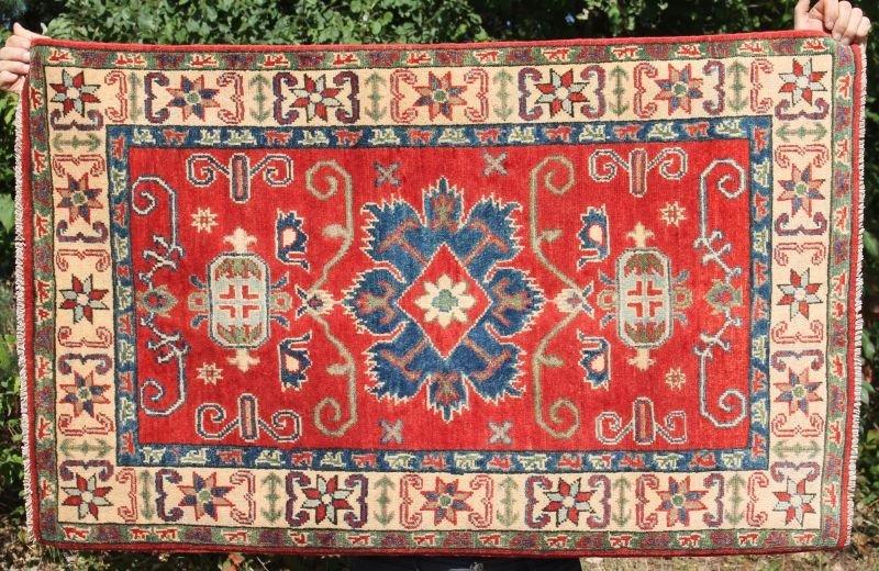 "2'6""x4'1"" Kazak Oriental area rug"