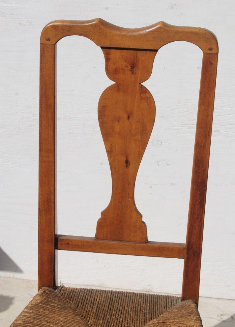 pr of 18thC period QA maple & tiger maple sidechairs w - 2