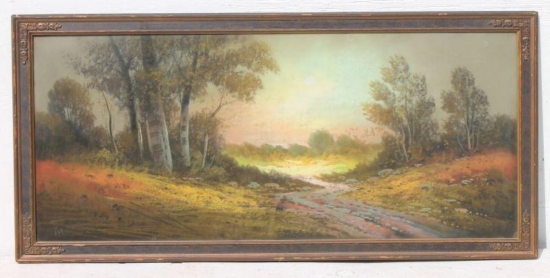 """R. Atkinson Fox (1860-1935) very large  20""""x46"""" pastel"""