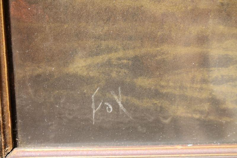 """R. Atkinson Fox (1860-1935) very large  20""""x46"""" pastel - 2"""