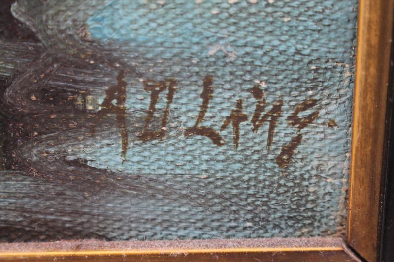 """sgnd A.D. Lang (listed in Mallets) 18""""x16"""" o/bd - 2"""