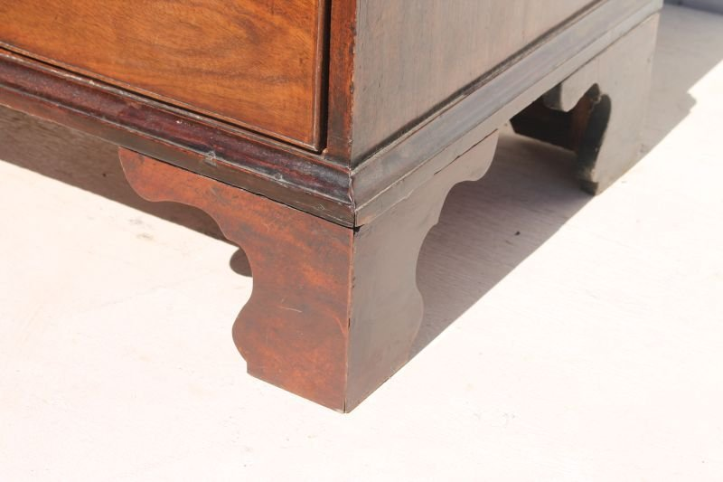 period Chippendale ca 1770 English mahog carved bracket - 3
