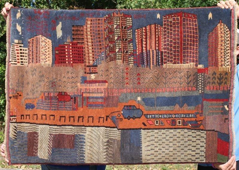 3'x5' rare Oriental Afghan War rug