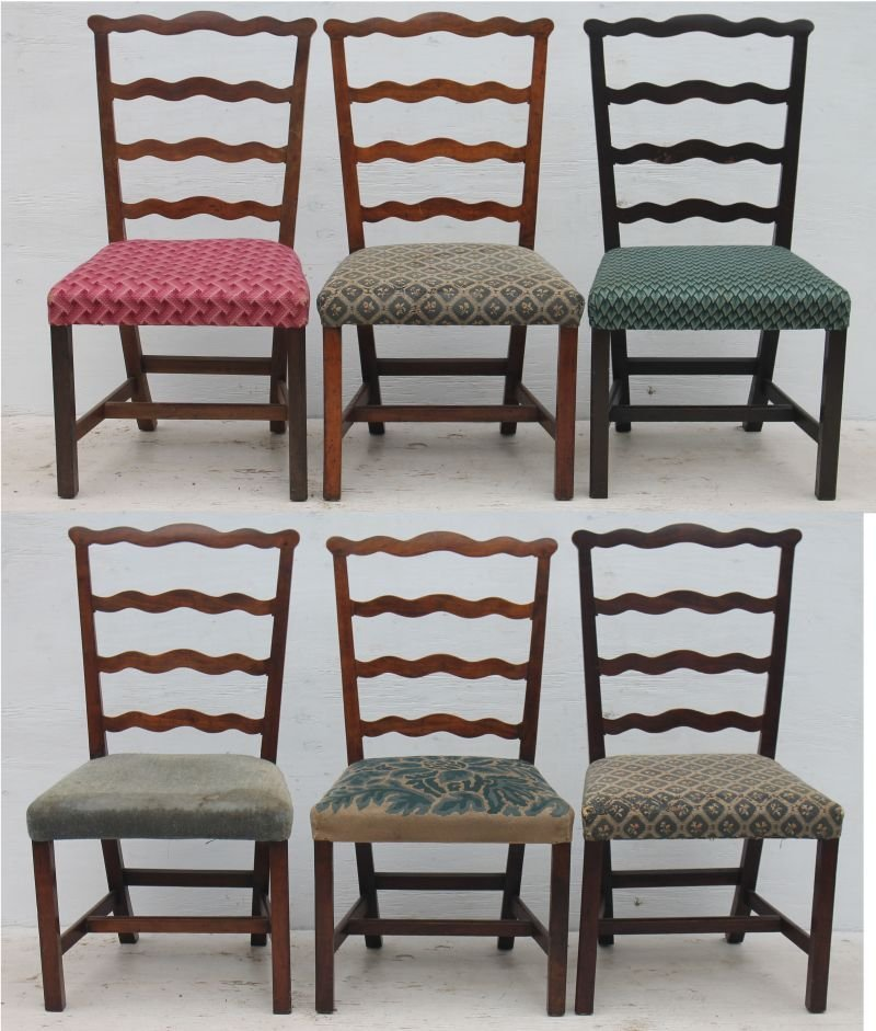 Very fine period Chippendale ca 1780 assembled set of 6
