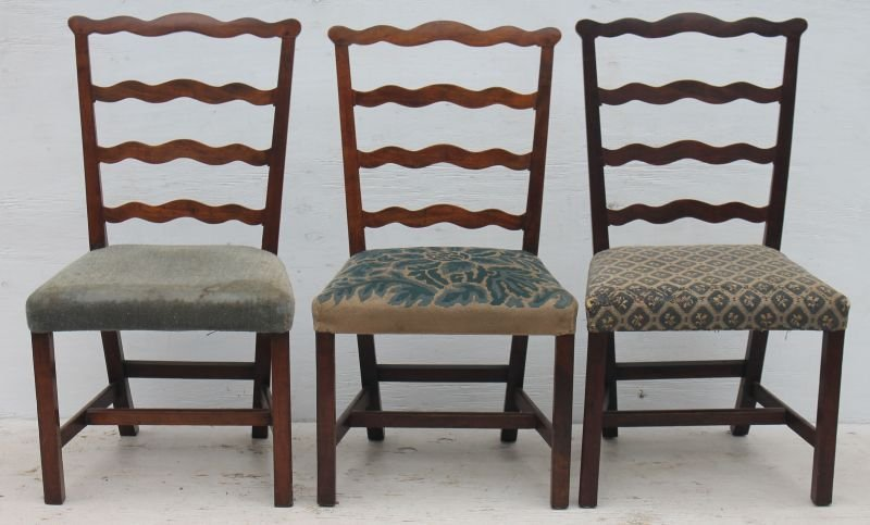 Very fine period Chippendale ca 1780 assembled set of 6 - 3