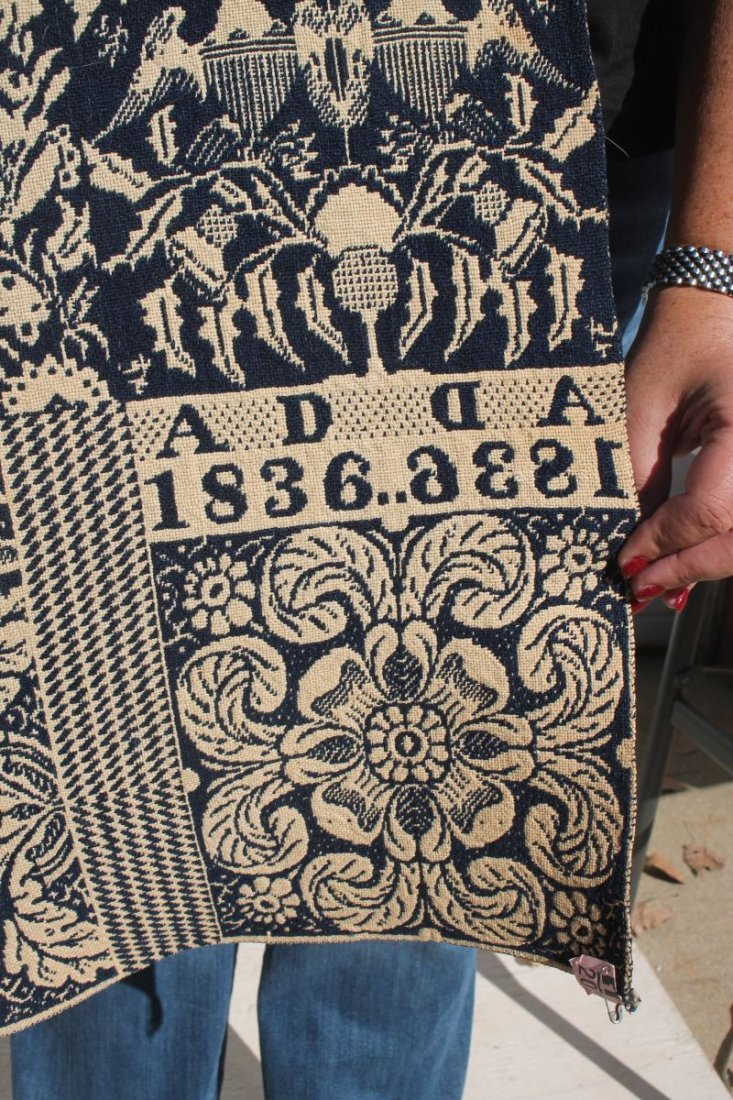 Excellent dated 1836 American hand woven & stitched - 2