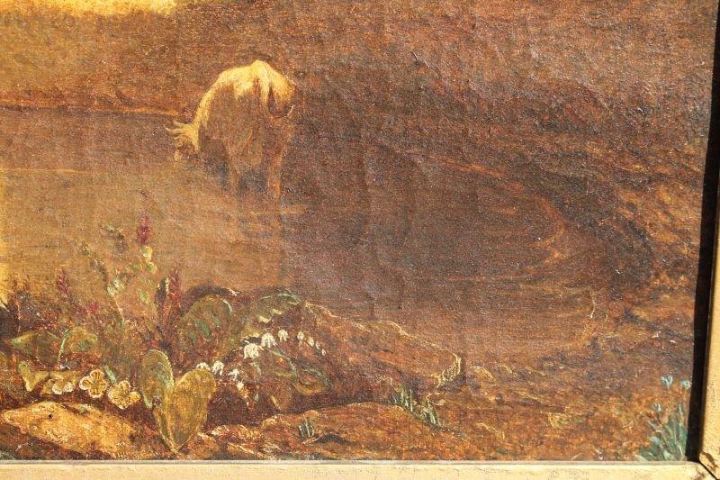 "19thC 14""x20"" o/c landscape depicting castle ground w - 3"