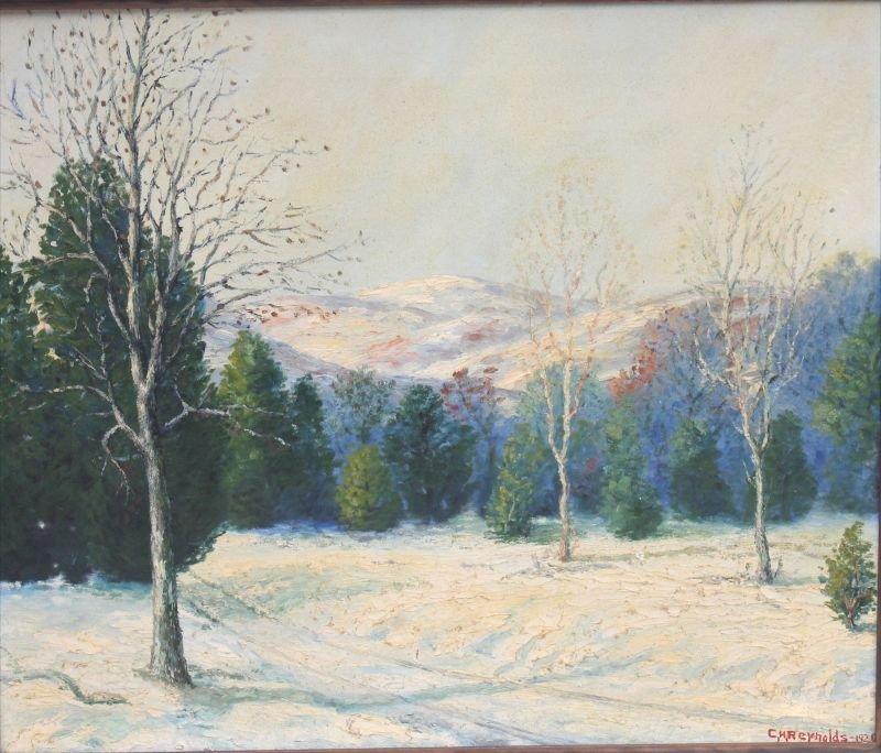 """Charles Henry Reynolds (1902-1963)  22""""x26"""" o/c winter"""