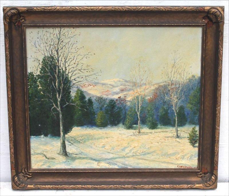 """Charles Henry Reynolds (1902-1963)  22""""x26"""" o/c winter - 4"""