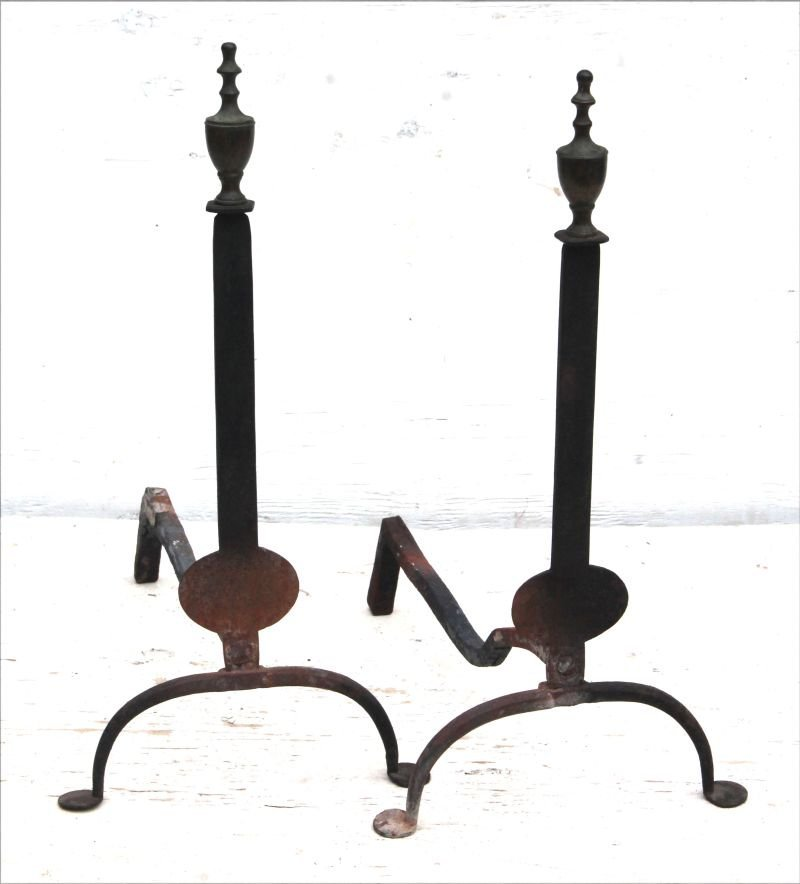 Mid 18thC New England forged iron bold classic form