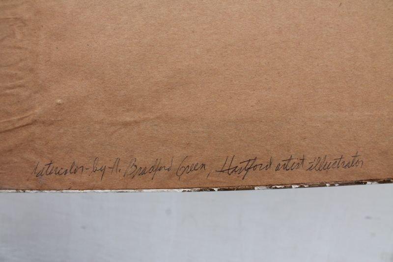 "William Bradford Green (1871-1945 Hartford) 14 1/2"" x - 2"