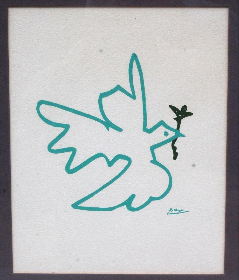 "10""x8"" sight size Picasso silkscreen print depicting"