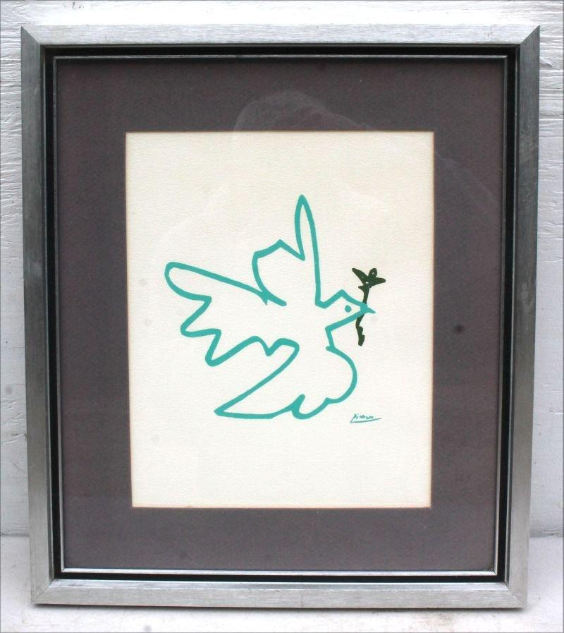 "10""x8"" sight size Picasso silkscreen print depicting - 2"