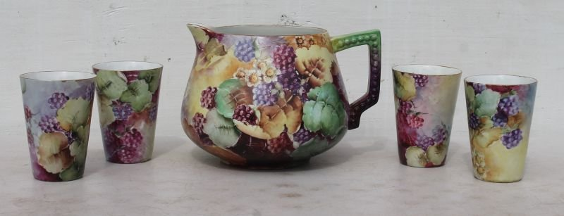 attrib Limoges ca turn of the century hand painted