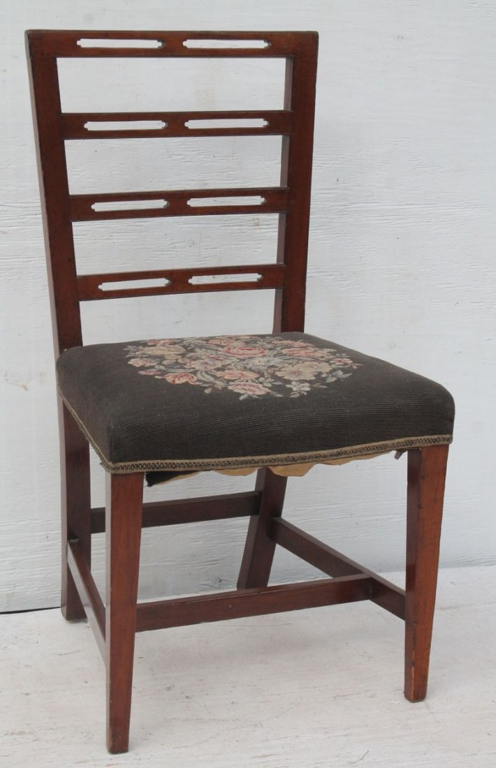 lot of 3 period Federal sidechairs all ca 1790 incl a - 4