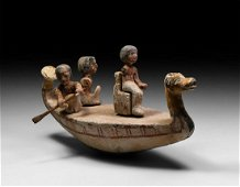 Egyptian Model Boat with Oarsmen