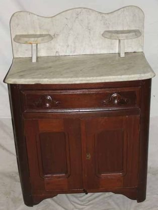 4: 1880's Marble Top Commode
