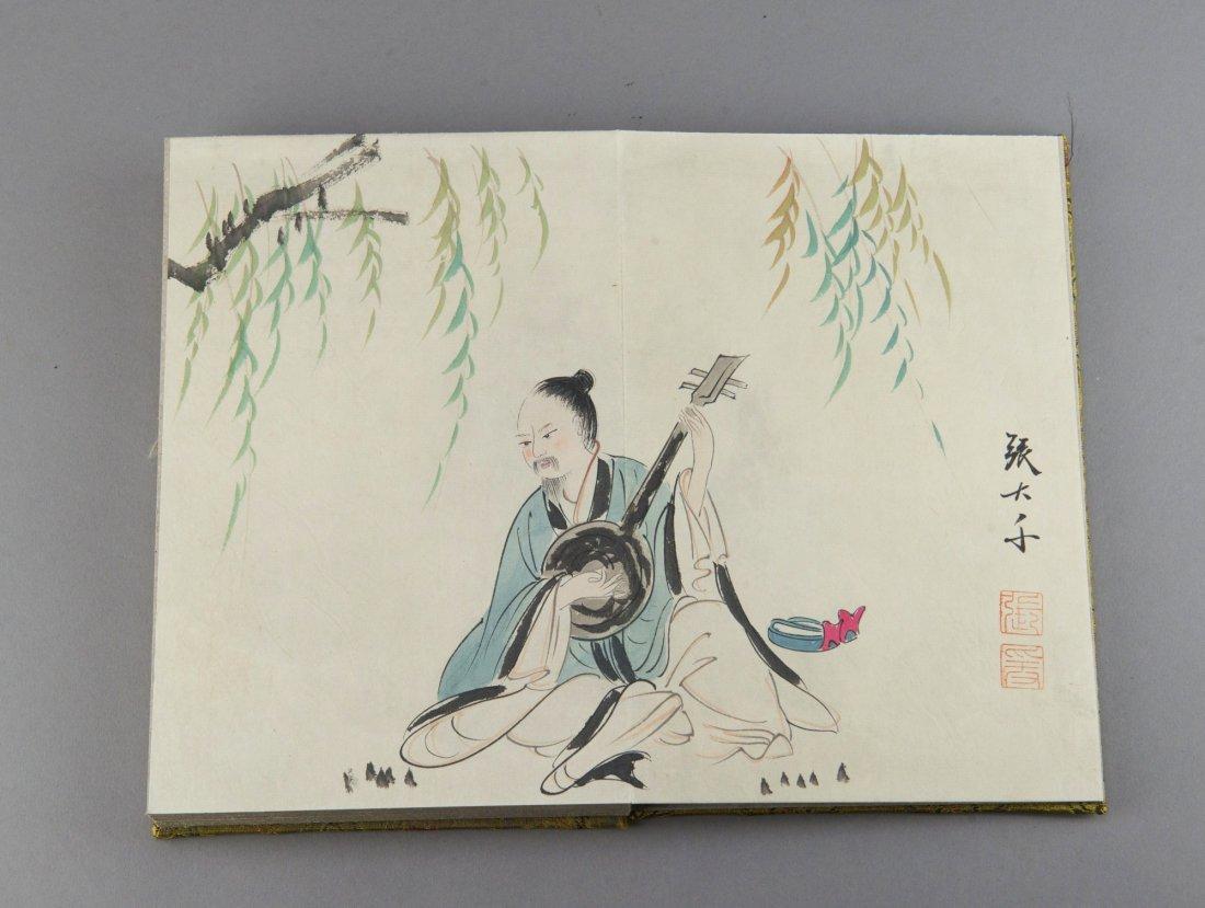 Chinese Watercolour Book Signed Zhang Da Qian
