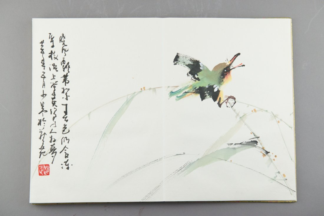 Chinese Watercolour Book Signed and Sealed