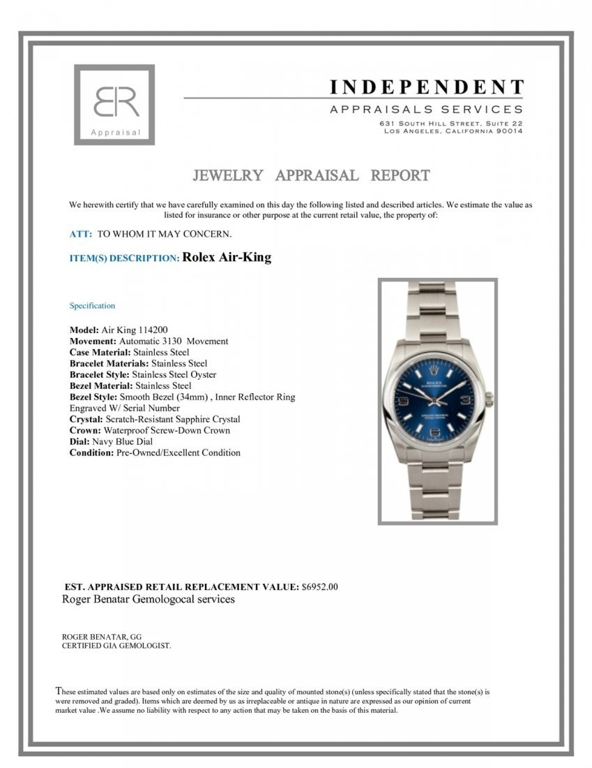 Pre-Owned Rolex Air-King - 3