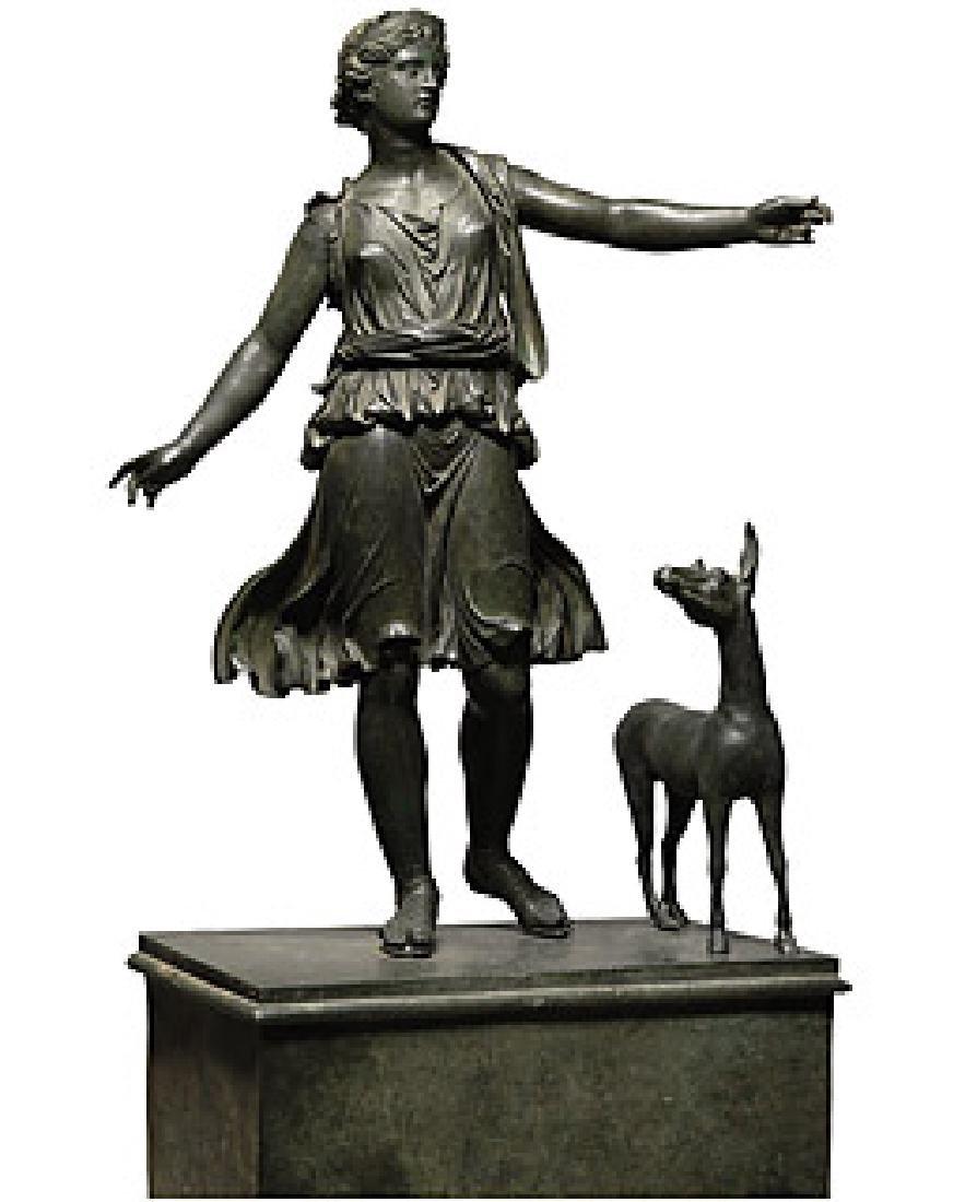 Roman-era statue,Artemis and the Stag