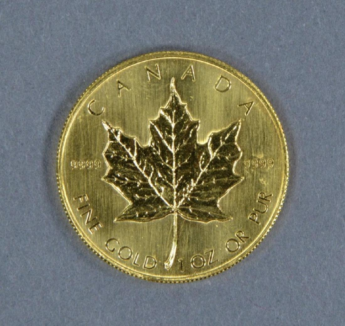 1983 Canadian 1 oz. Gold Maple Leaf Coin - 2