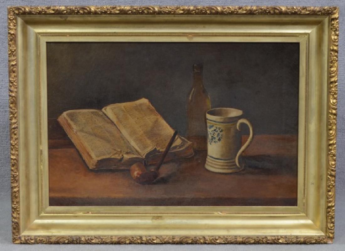 Oil on Canvas Table Still Life