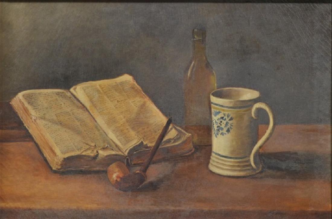 Oil on Canvas Table Still Life - 5