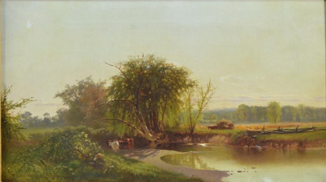 Arthur Parton Oil on Canvas - 3