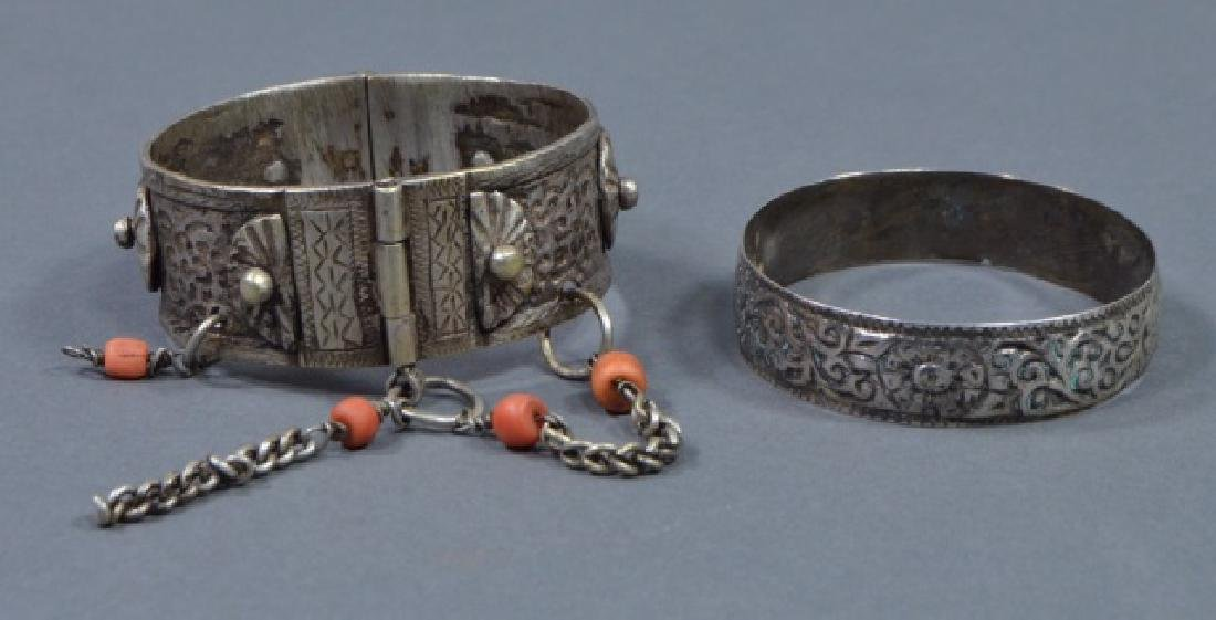 Two North African Silver Cuff Bracelets