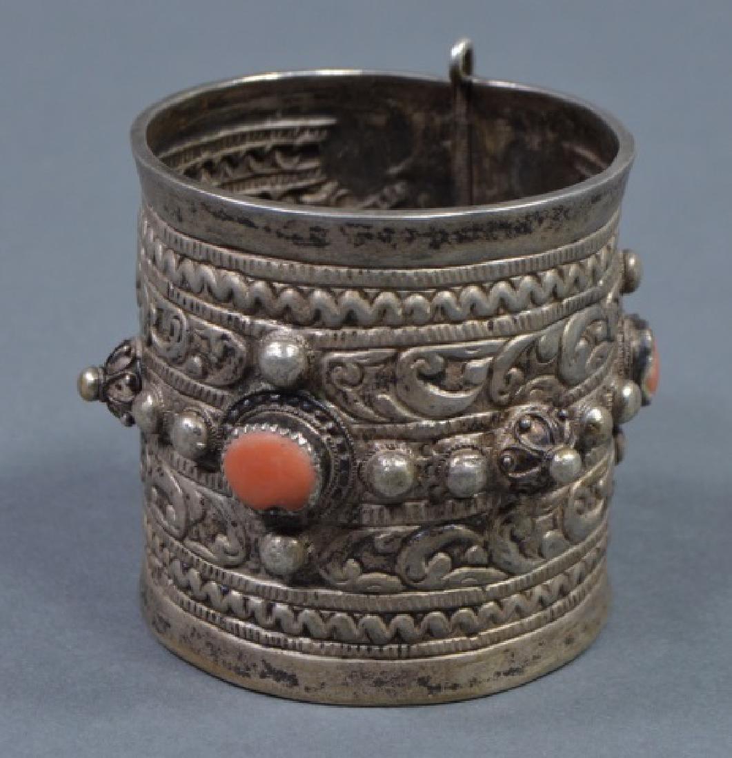 North African Silver Cuff Bracelet