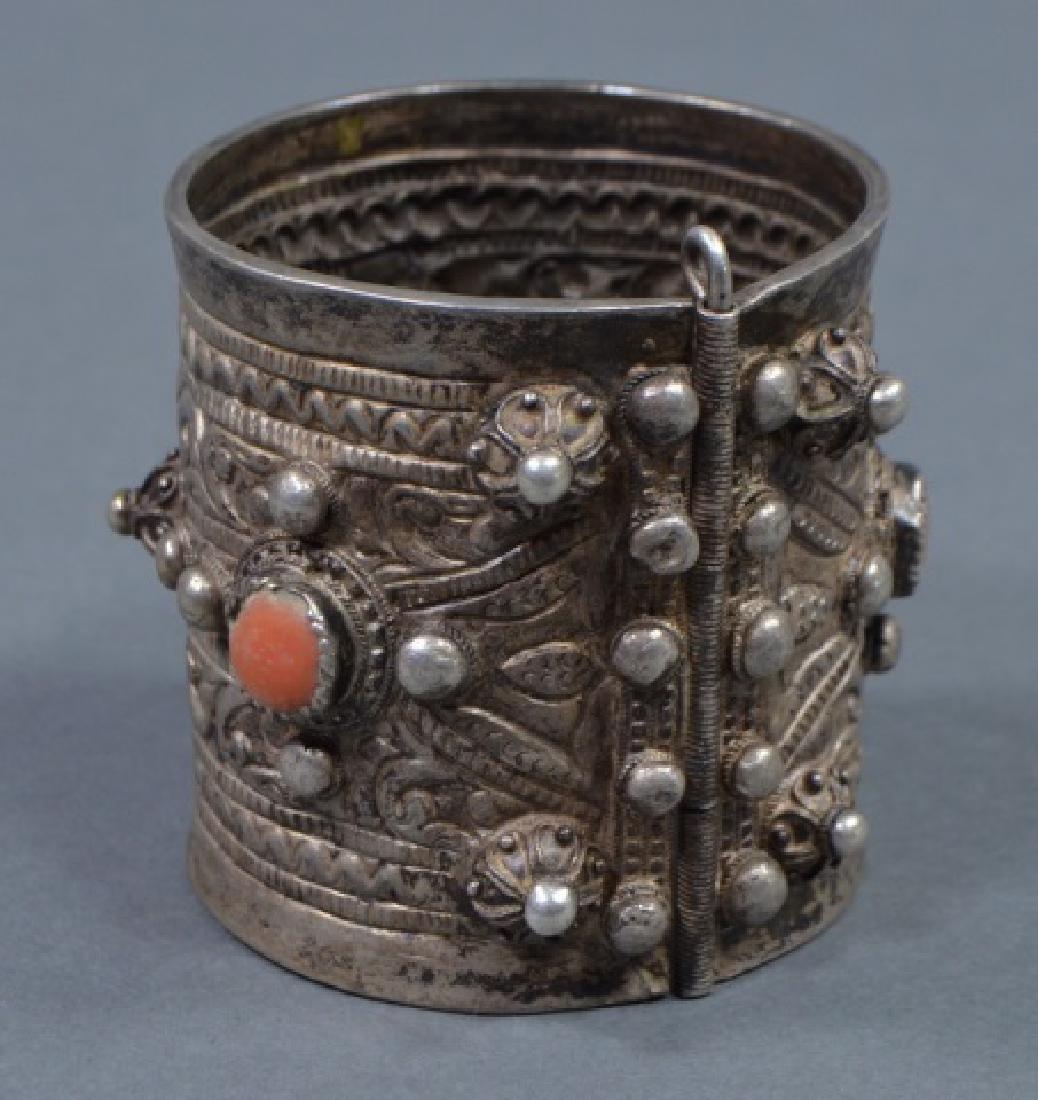 North African Silver Cuff Bracelet - 2