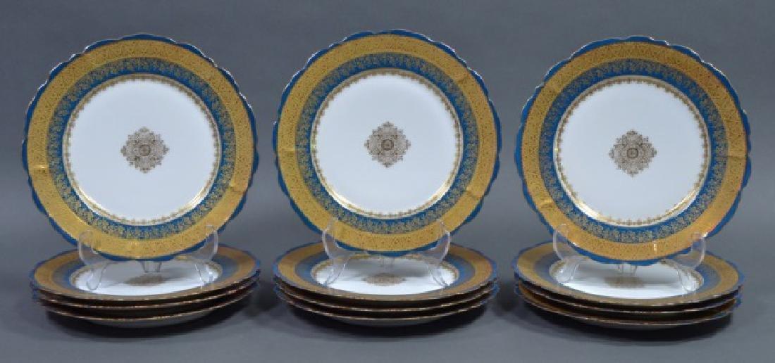 Set of 12 LS&S Limoges Plates