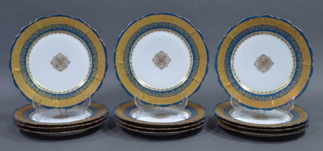 Set of 12 LS&S Limoges Plates