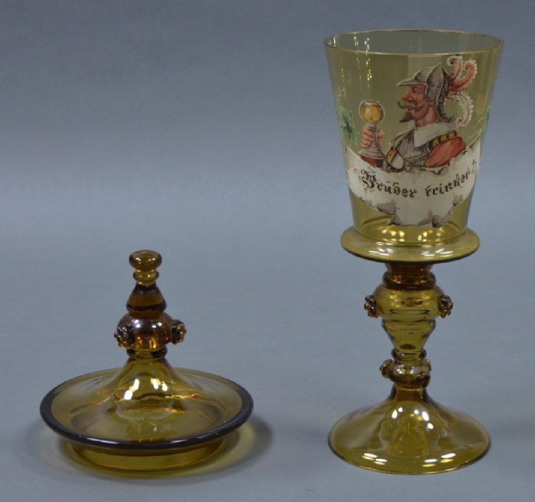 German Enameled Glass Pokal - 3