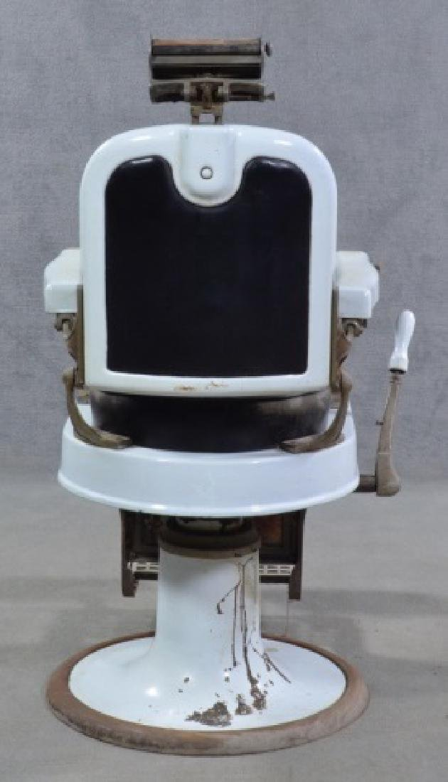 White Enamel Ceramic Barber Chair - 3