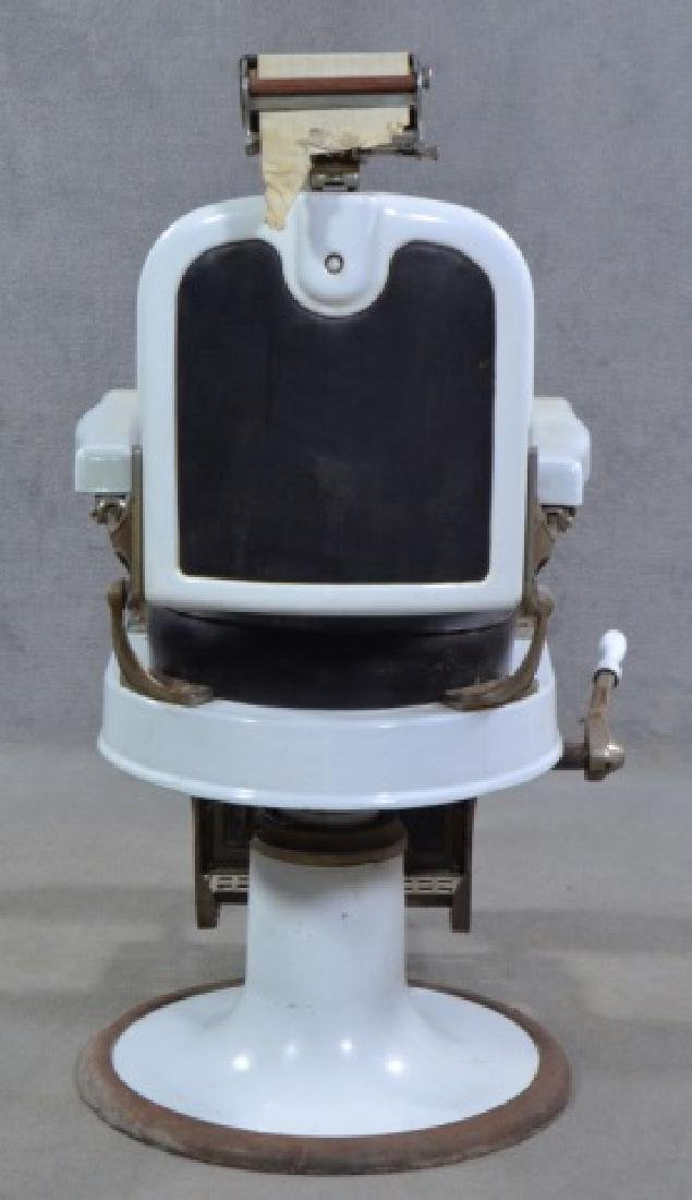 White Enamel Ceramic Barber Chair - 4