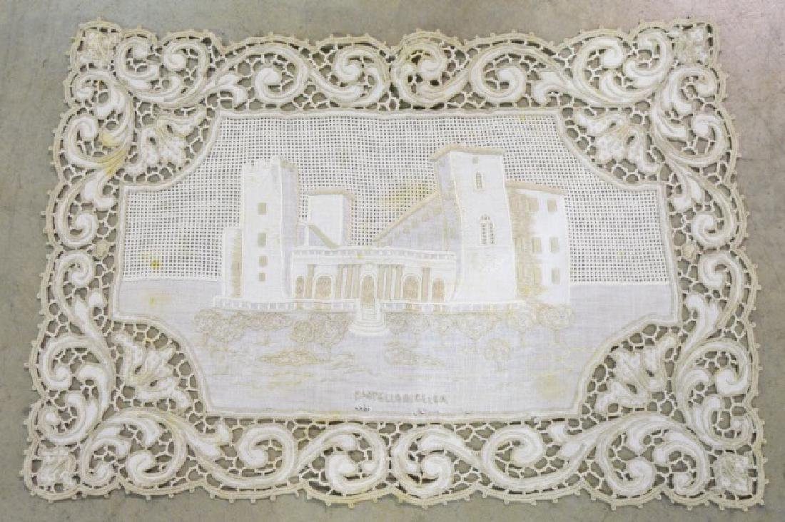 Antique Hand-Made Lace Placemats and Table Runner - 2