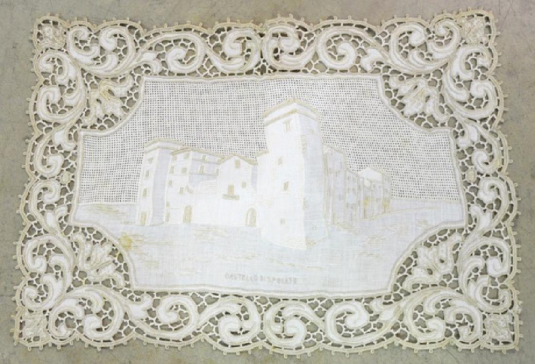 Antique Hand-Made Lace Placemats and Table Runner - 3