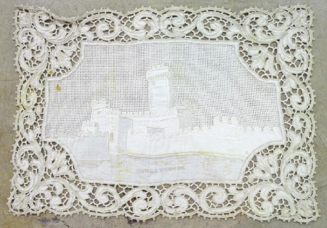 Antique Hand-Made Lace Placemats and Table Runner - 4