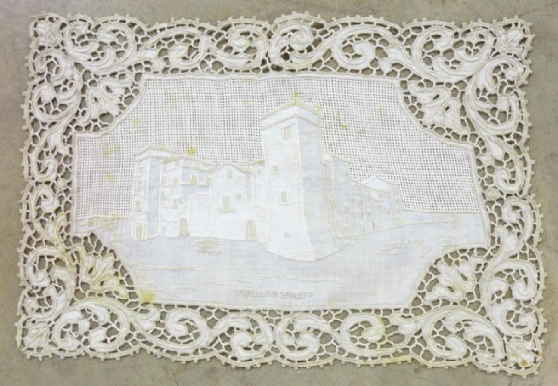 Antique Hand-Made Lace Placemats and Table Runner - 7