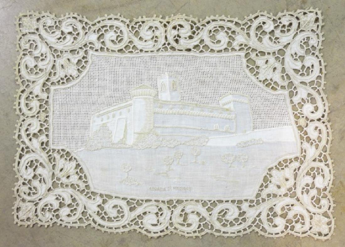 Antique Hand-Made Lace Placemats and Table Runner - 8