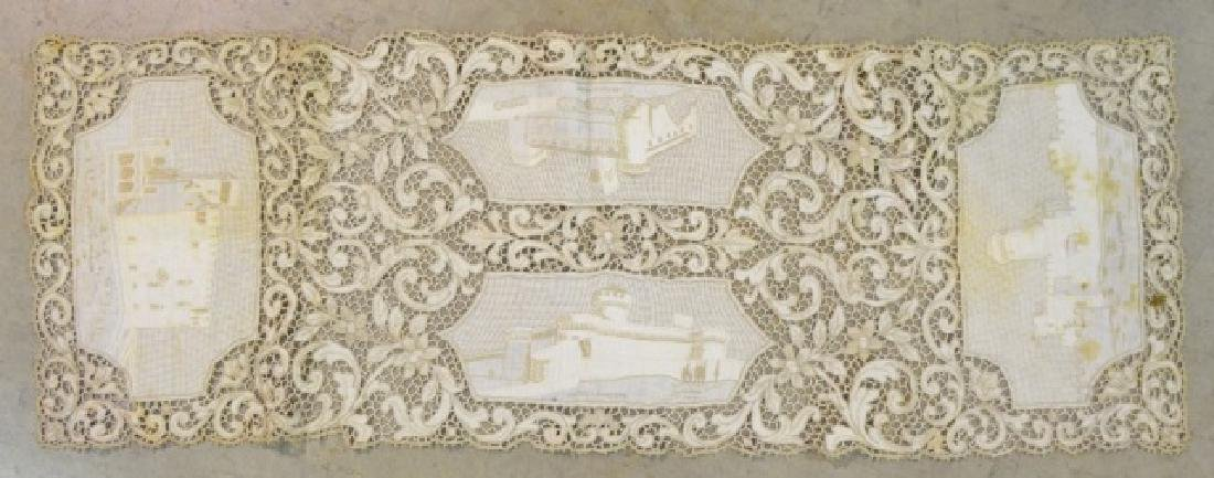 Antique Hand-Made Lace Placemats and Table Runner - 9