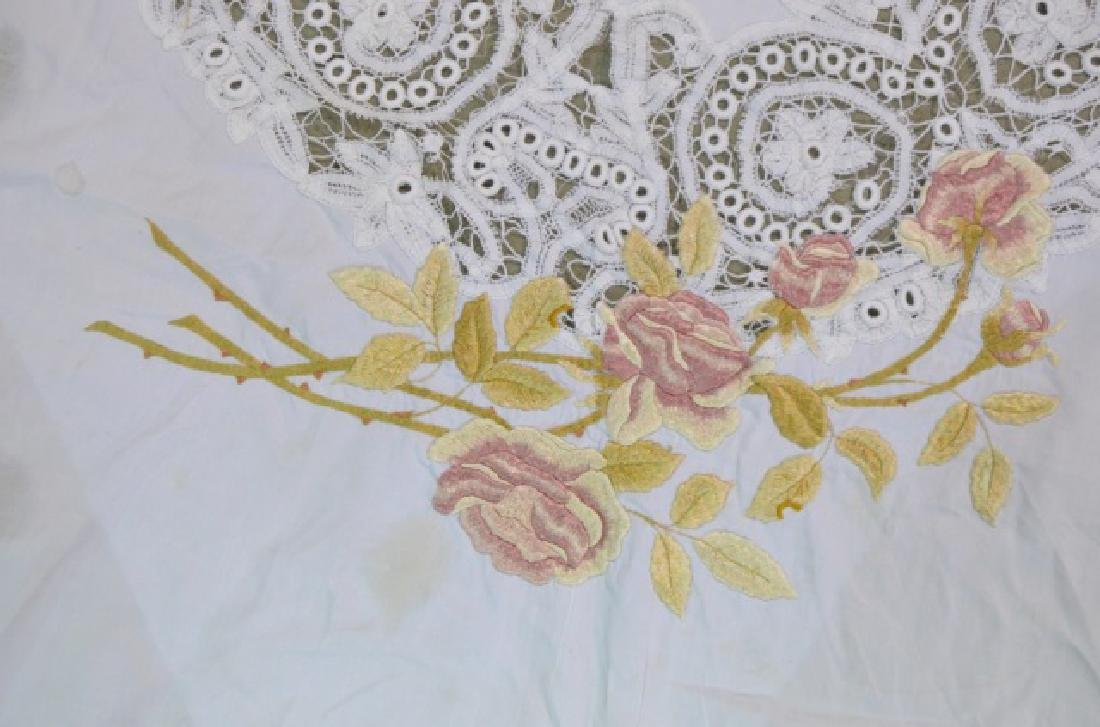 Two Vintage Circular Lace Tablecloths - 6