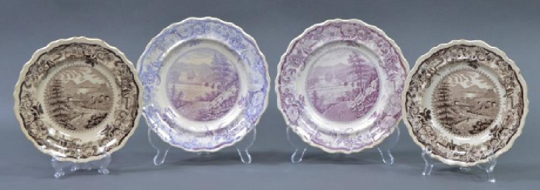 Group of Early American Transferware Plates