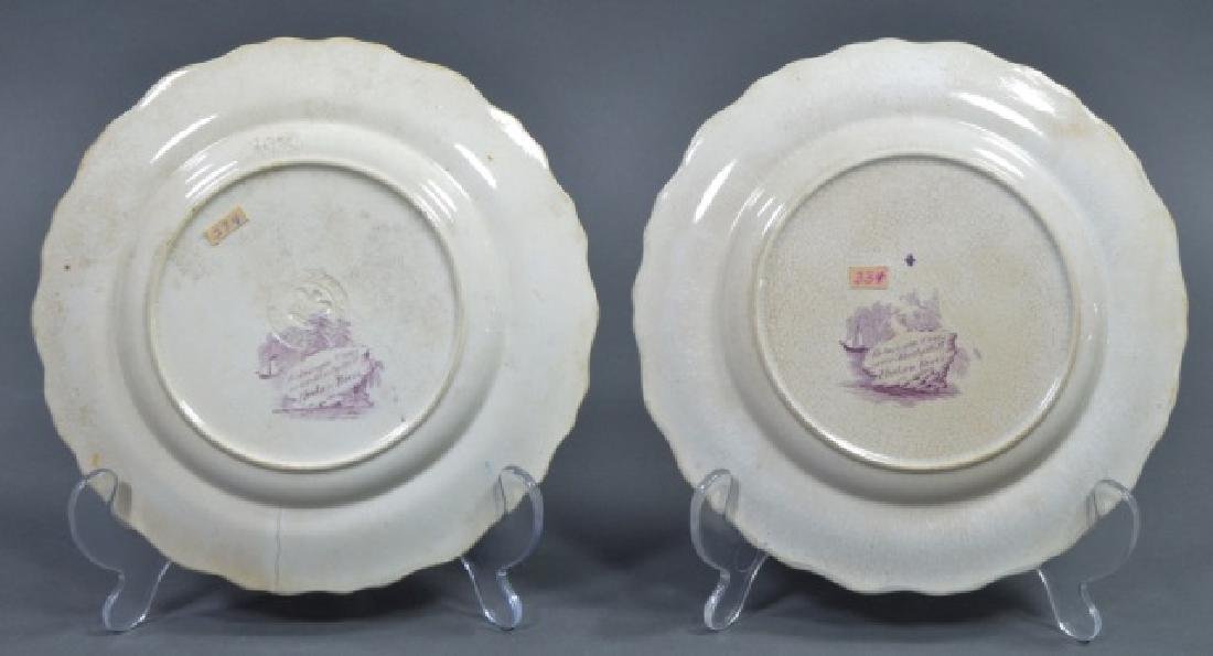 Group of Early American Transferware Plates - 3