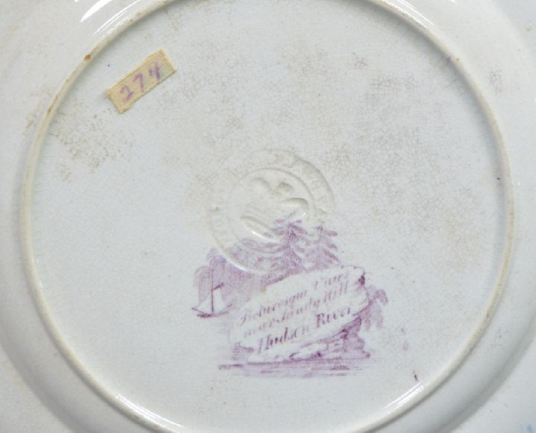 Group of Early American Transferware Plates - 4