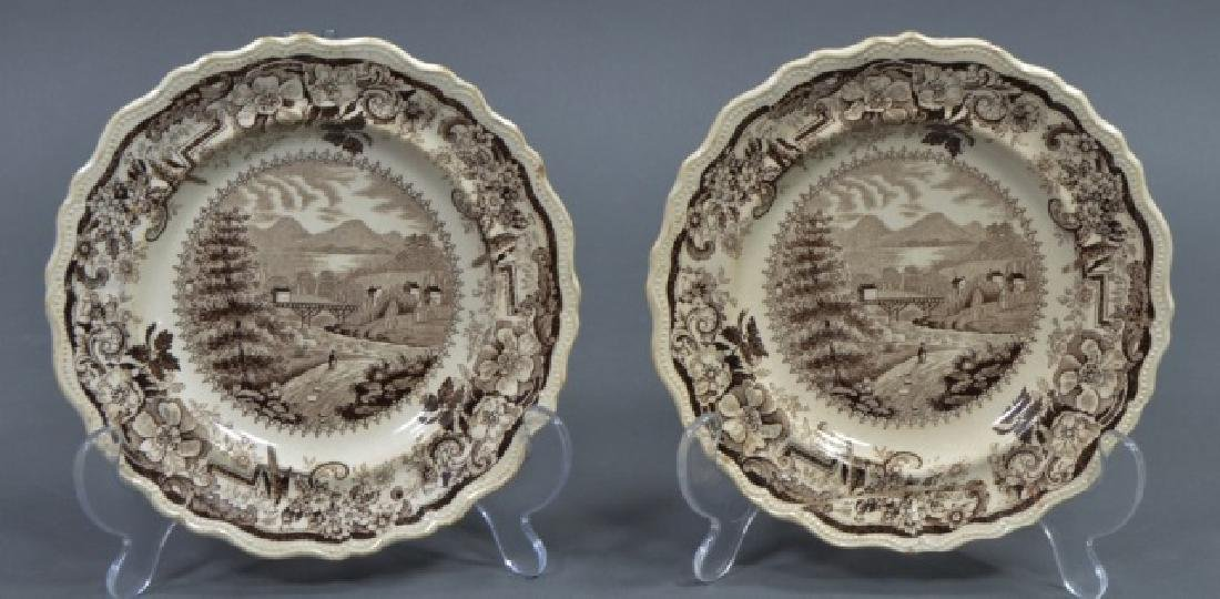 Group of Early American Transferware Plates - 5