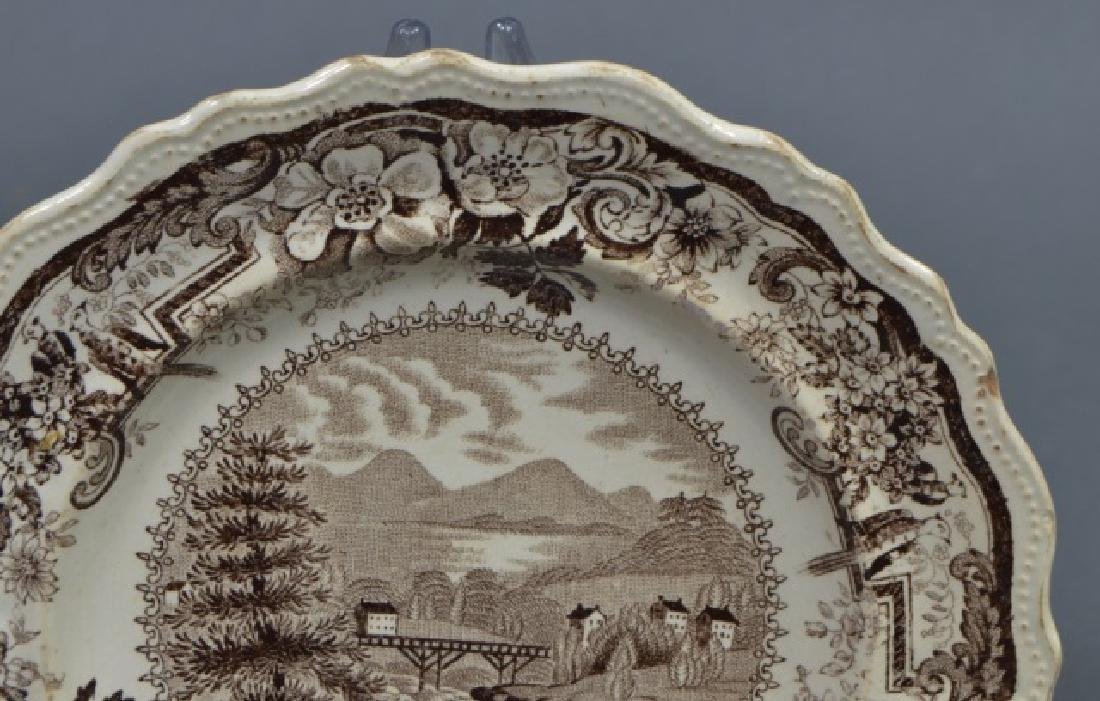 Group of Early American Transferware Plates - 6