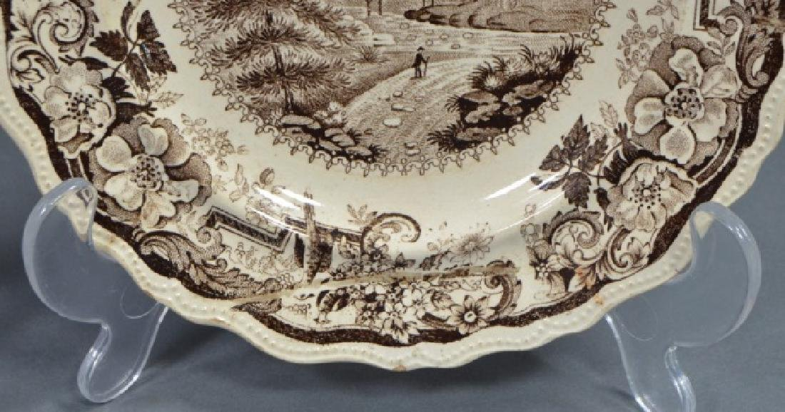 Group of Early American Transferware Plates - 7